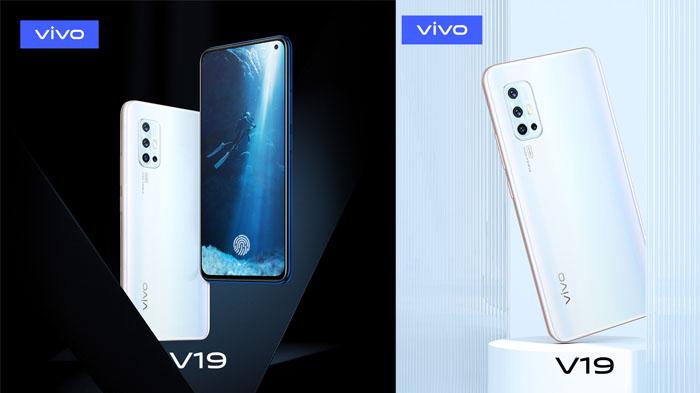Smartphone atau HP Vivo V19 (Sumber: Vivo Indonesia)
