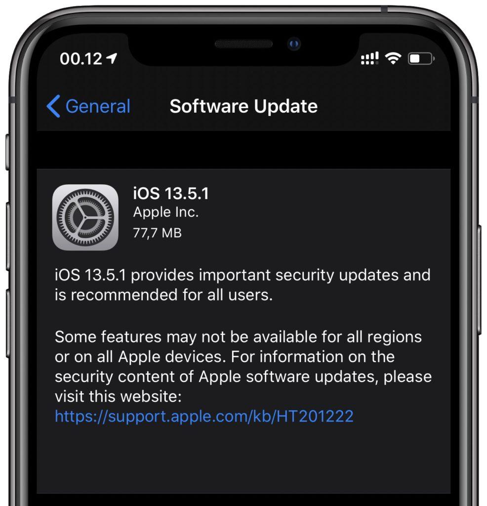iOS 13.5.1 (istimewa)