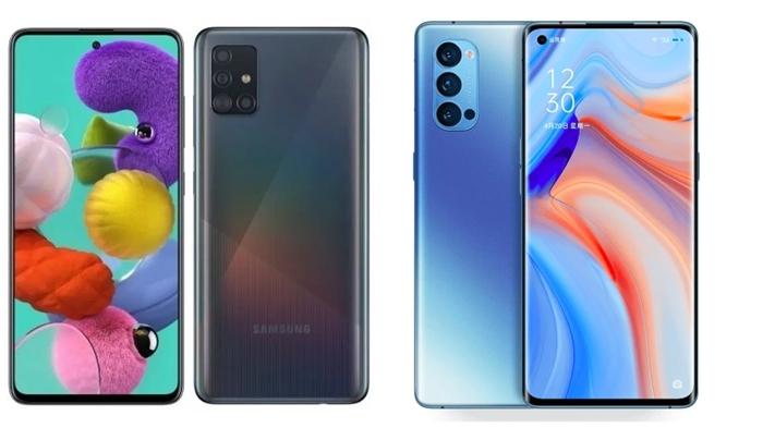 Oppo Reno 4 dan Samsung Galaxy A51