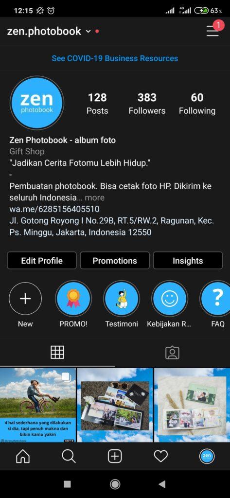 Cara Membagikan Profil Instagram dengan QR Code