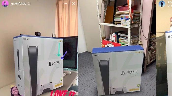 Filter PS5 di Instastory