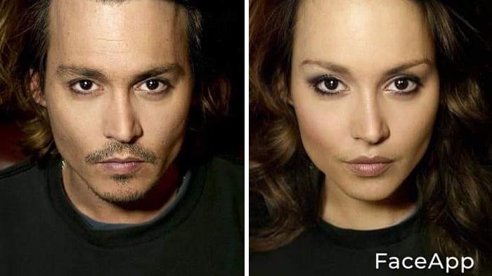 Cara edit foto pria jadi wanita via FaceApp