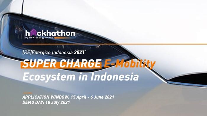 Inovasi sektor kendaraan listrik di Indonesia sedang dicari oleh New Energy Nexus Indonesia melalui Hackathon [RE]energize Indonesia 2021, bertajuk SUPER CHARGE E-Mobility Ecosystem in Indonesia.