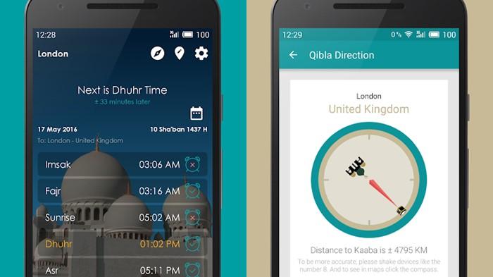 Jadwal Sholat, Kiblat, dan Adzan - aplikasi waktu Sholat buatan Indonesia