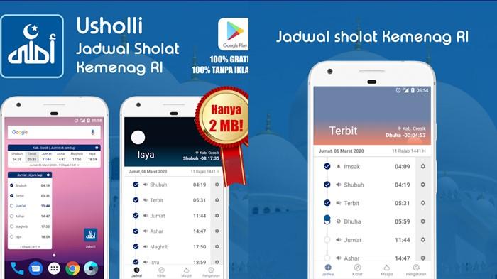 Usholli - aplikasi waktu Sholat buatan Indonesia